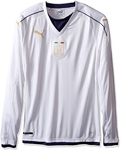 PUMA Camiseta FIGC Italia Tribute Away Ls para hombre réplica - 74957504, playera de manga larga con licencia oficial 2017-2018, M, lejos