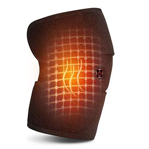 Rodillera calentada - Apoyo terapéutico con calefacción eléctrica Rodillera para la artritis, el dolor articular, el alivio del dolor de menisco para el brazo de pierna Calf Fit hombres y mujeres
