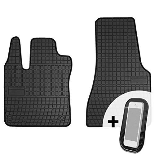 moto-MOLTICO Gummimatten Auto Fußmatten Gummi Automatten Passgenau 2-teilig Set - passend für Smart Fortwo 2015-2018