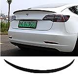 CHHMAELOVE Voiture Spoiler for Tesla Model 3,Boîte personnalisée arrière de Voiture Les ailerons,Installation Non Destructive Spoilers arrière de Voiture,Black