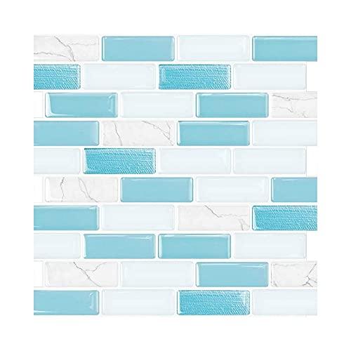 NRRN Pegatinas para azulejos, adhesivo 3D, adhesivo autoadhesivo para pared, para cocina, baño