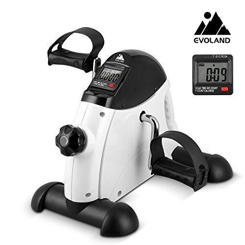 EVOLAND Mini Fitnessbike für zuhause, Arm und Beintrainer Fitnesstrainer, Sportgerät Heimtrainer, Hometrainer Mini Fahrrad Bewegungstrainer Fitnessgerät für Zuhause Büro