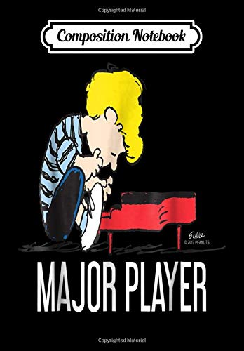 Composition Notebook: Funny Peanuts Schroeder Major Piano Player, Journal 6 x 9, 100 Page Blank Lined Paperback Journal/Notebook