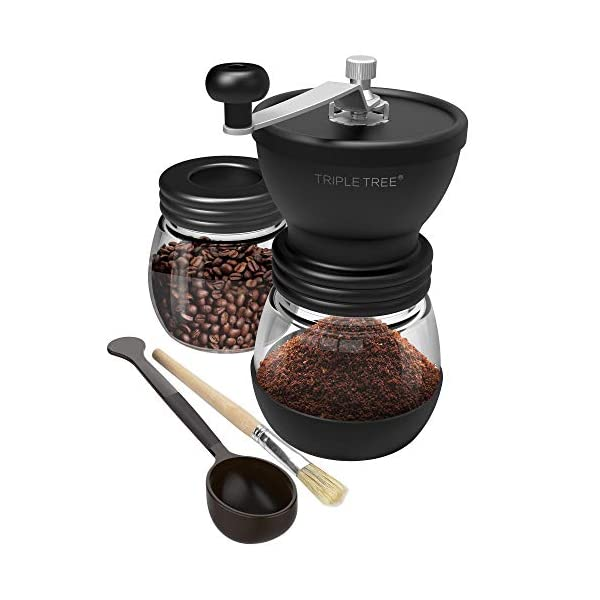 Manual Coffee Grinder With 2 Jars