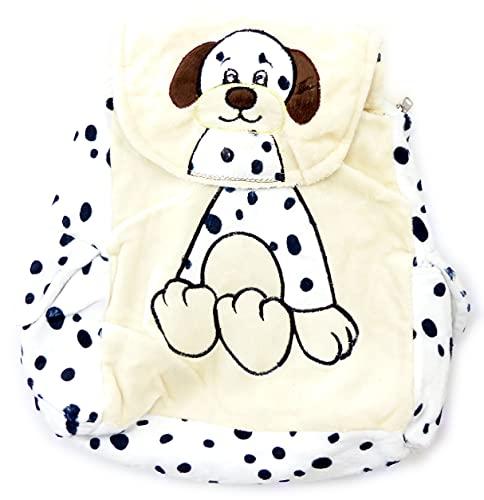 4574 Sac à dos enfants sac à dos peluche petsi Sac à dos Child nombreux modèles (Dog White)