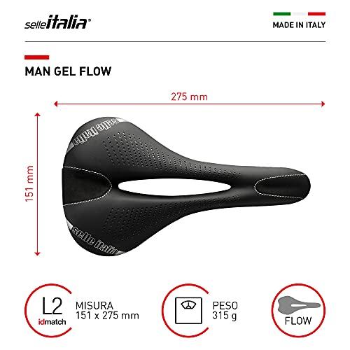 Selle Italia MAN, Sella da bicicletta Unisex Adulto, Nero, 151X275 L2
