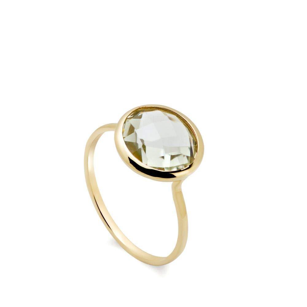 Green Amethyst Charlotte Mall Ring 14K Gold Rings Gemstone for Mi Translated Women Natural