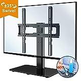 BONTEC Soporte para televisión de 26 – 55 Pulgadas Giratorio Soporte de Mesa para TV LCD LED Plasma, Plano y Curvo de hasta 40 kg, máx. VESA 400 x 400 mm