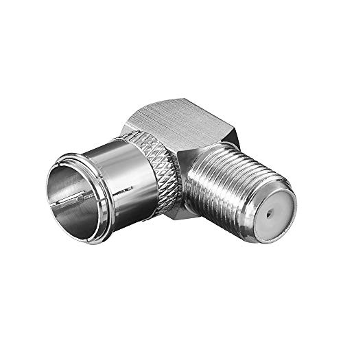 Goobay 67312 Winkeladapter, F-Stecker (Quick)