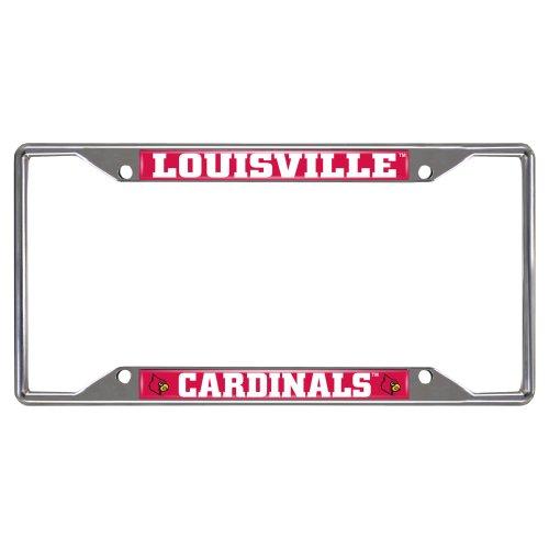 FANMATS 14820 NCAA University of Louisville Cardinals Chrome License Plate Frame
