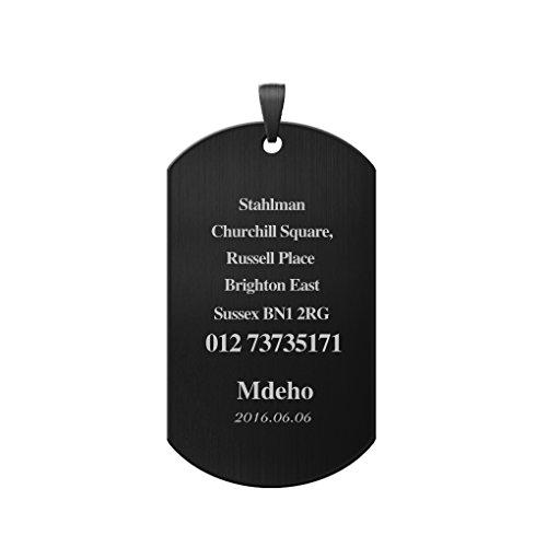 Médaille Personnalisé Pendentif Collier de Chien Polissage Charm Plaque d'Identification en Acier Inoxydable Gravé Nom d'Animal Téléphone ID Adresse pour Petit Moyen Grand Chiens Chats 50*28*1.8MM