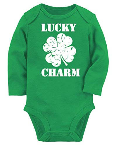 BFUSTYLE Infant Baby Boys Girls Unisex Funny Saying Fortunate Bodysuit Lucky Charm Shamrock Sports Onesie Solid Cotton Summer One-Piece Jumpsuit Sunsuit 1/2 Birthday Gift Romper with Snap 3-6 Months