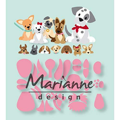 Marianne Design Sammelschablonen Eline's Welpe für komplizierte Designs und Reliefdetails auf Papier, Metall, 0
