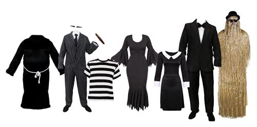 Disfraz gtico de mayordomo de Halloween  Disfraz de mayordomo gtico para la Familia de Personajes de televisin y Cine, Traje, Peluca, Pajarita y presentacin de Rostro (Pequeo)
