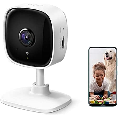 TP-Link Tapo C100 1080p Full HD Indoor WiFi Spy Security Camera| Night Vision | Two Way Audio| Intruder Alert | Works with Alexa and Google, White