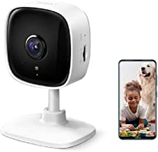 TP-Link Tapo Home Security Wi-Fi Camera - 1080p, Night Vision, Sound & Light Alarm, 2-Way Audio, 24/7 Live View, Voice Con...