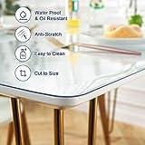 OstepDecor Glasklar Folie geruchlos Tischfolie Tischdecke transparente durchsichtig PVC Schutzfolie Tischschutz, 2mm dick wasserdicht Lebensmittelgeeignet,Größer anpassbar, 90x160cm - 6