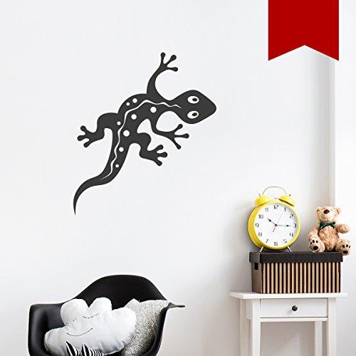 WANDKINGS Wandtattoo - Gecko - 35 x 16 cm - Rot - Wähle aus 5 Größen & 35 Farben