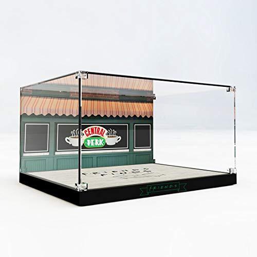 SEREIN Vitrina acrílica con expositor de acrílico compatible con Lego Ideas 21319 Friends Central Perk Café (sin set Lego)