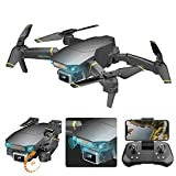 Foldable Drone with 4K Camera for Adults Kids, FPV Camera Drone with Optical Flow Positioning, Automatic Obstacle Avoidance, Dual Camera, RC Drone Quadcopter with 2 Modular Batteries