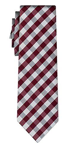 Cravate soie tartan pattern burg silver