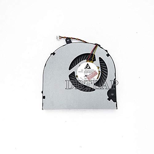 DBTLAP Ventilador para Toshiba Satellite L50-A-173 L50-A-18R L50-A-19M L50-A-19P L50-A-1CE P50-A P55-A P50T-A P55T-A S50 S55 L50-A-10Q L50-A-19N L50-A-165 CPU Ventilador 3 Wires