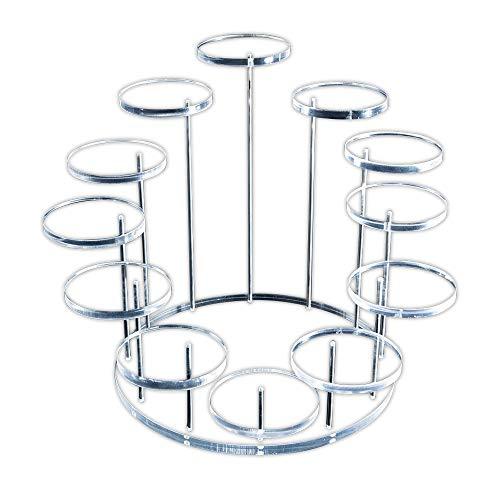 Epaynetwork Acryl Display Riser Klare Acryl Ring Veranstalter Schmuckständer Display Regale für Mini-Figuren Kommode Top Schmuck Regal Hochzeit nach Hause Geburtstagsfeier