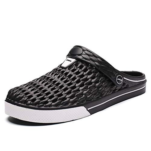 CHLDDHC Hombres Sandalias Agujero Zapatos Zuecos De Goma Parahombres EVA Unisex Calzado para Jardín