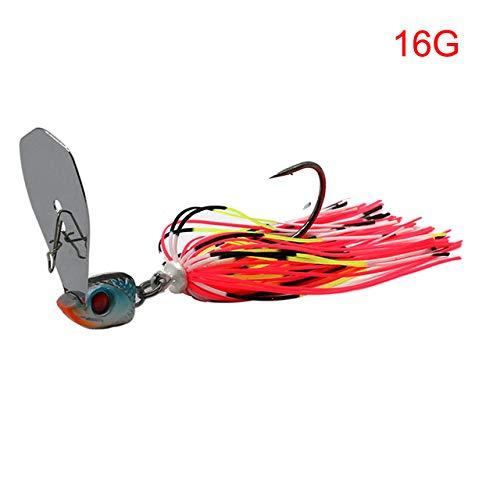 Nobrand 13G/16G Spinner cebo pesca señuelo Buzzbait chatter cebo wobbler falda de goma artificial para lubina lucio Walleye señuelos de pesca, 19 rosa 16 g.