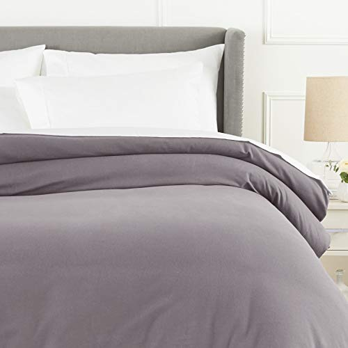 Pinzon Flannel Duvet Cover - King, Graphite