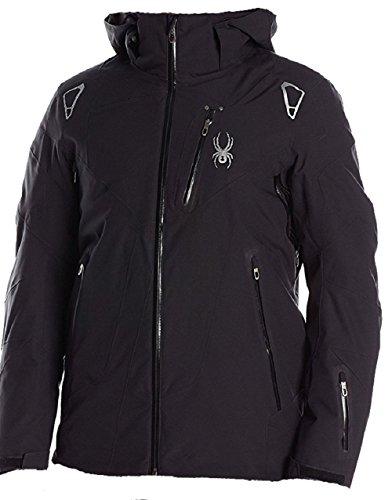 Spyder Men's Leader Jacket, Black/Black/Black, X-Large