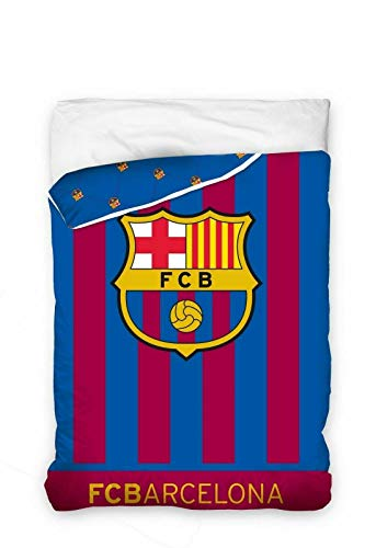 Barcelona FC - Edredón Escudo Barcelona FC Cama 90 cm. (180 x 260 cm.)