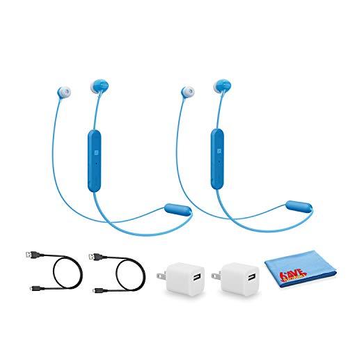 Sony WI-C300 Wireless Bluetooth in-Ear Headphones -Blue - 2 Pack Kit