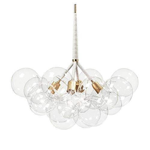 Bubble Glass Chandelier Chandeliers Lighting Suspension Light Ceiling Light Pendant Lamp Ceiling Mount 4 Lights with 12 Bubble Glass (Bulbs Not Included)