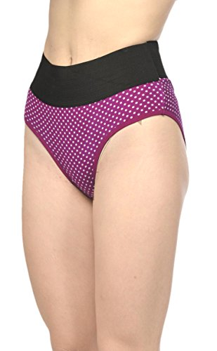 FIMS - Fashion is my style Tummy Tucker Panties Shapewear Panties Panty Sets for Women Panty Combo Panties for WomenPanties for Women Women Cotton Panties Hipster Panty-Pack of 3.Purple-red-Blue-M