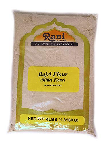 Rani Bajri Flour (Finger Millet) 4 Pound, 4lbs (64oz) Bulk ~ All Natural | Vegan | Gluten Friendly | NON-GMO | Indian Origin