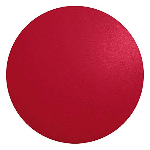 ASA 7858420 Tischset - Platzset - Rund - Leder - Rot Ø 38 cm