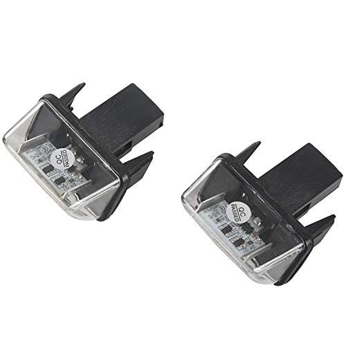Semoic 2pcs SMD Lampe LED Voiture Plaque de Numero de Serie pour 206 207 306 307 406 407 C3