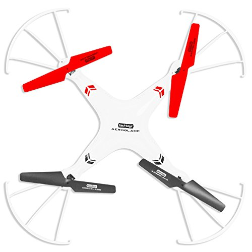 Aeroblade RT3500 2.4GHZ 4Ch Quadcopter with HD Camera, White