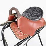 XMXM Saddle sintético Caballo Sillín de Silla de Silla de Montar Almohadilla Acolchada Racing Silla de Montar Equipo de Silla de Montar Movimiento de Silla de Montar Dura S