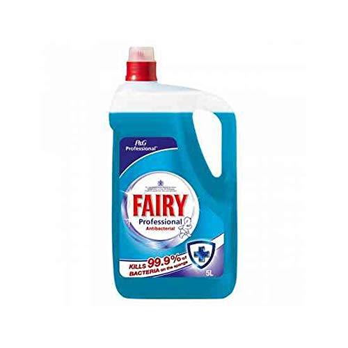 Fairy 2 líquidos profesionales antibacterianos de 5 litros.