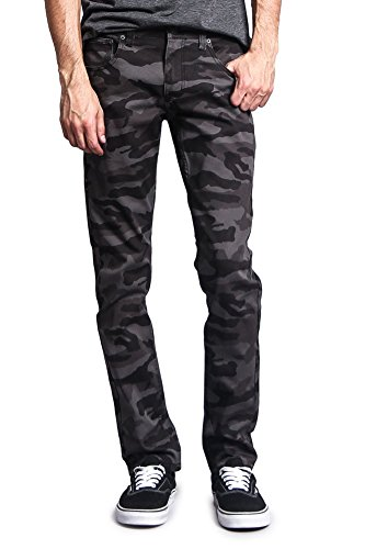 Victorious Mens Camouflage Skinny Fit Jeans