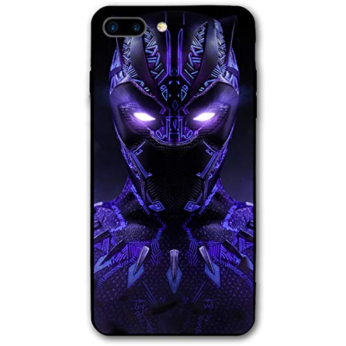 XJDZ iPhone 7 Plus Case 8 Plus Case 5.5',Comics Case Plastic Cover for iPhone 7Plus/8Plus (Black-Panther-3)
