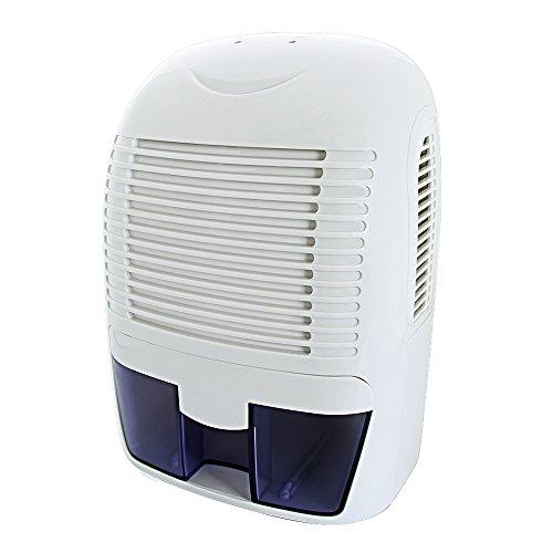 Mini deumidificatore [500 ml 1500ml portatile per illuminazione rampe, silenzioso risparmio energetico LED indicatore Auto-pagato] ideale per uso domestico nella stanza servizio bagno cucina (1,5L)