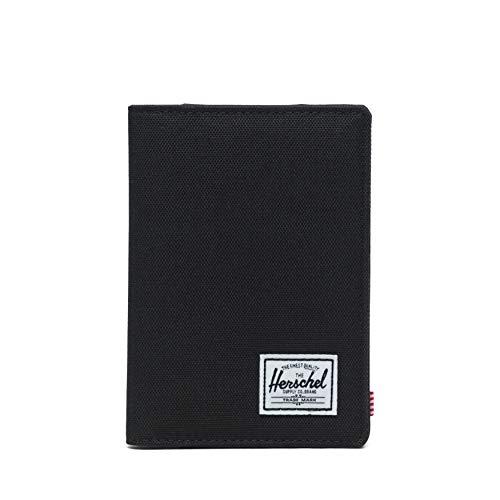 Herschel Men's Raynor RFID Passport Holder, Black