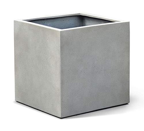 VAPLANTO® Pflanzkübel Cube 30 Beton Hell Grau Quadratisch * 30 x 30 x 30 cm * 10 Jahre Garantie