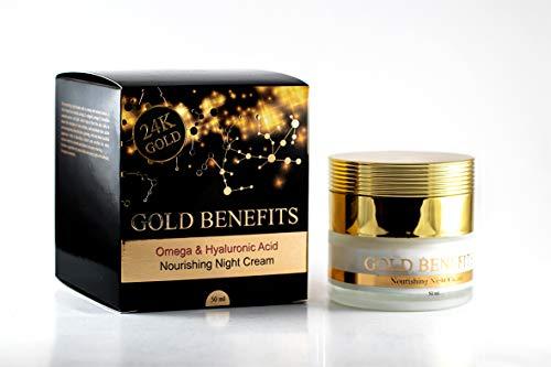 Pflegende Nachtcreme mit Gold-Vorteilen, reich an Mineralien aus dem Toten Meer und Gold 24K,...
