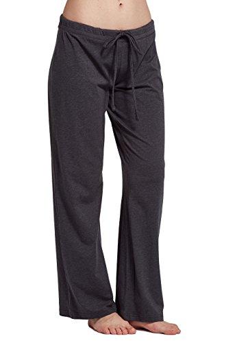 CYZ Womens Casual Stretch Cotton Pajama Pants Simple Lounge Pants,Charcoal, Size: X-Large