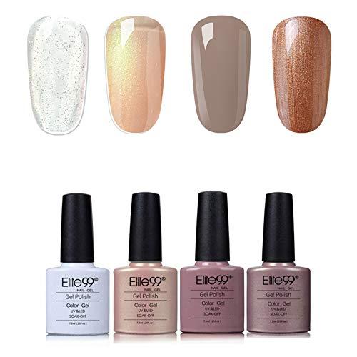 Elite99 UV Nagellack Nail Gel Polish Farbgel Nagelgel Regenbogen Effekt(5x Stueck)