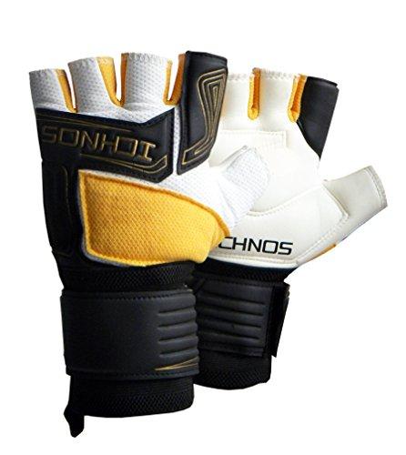 Ichnos Futsal Torwart Fußballhandschuhe/Torwarthandschuhe halbfingerhandschuh (10)